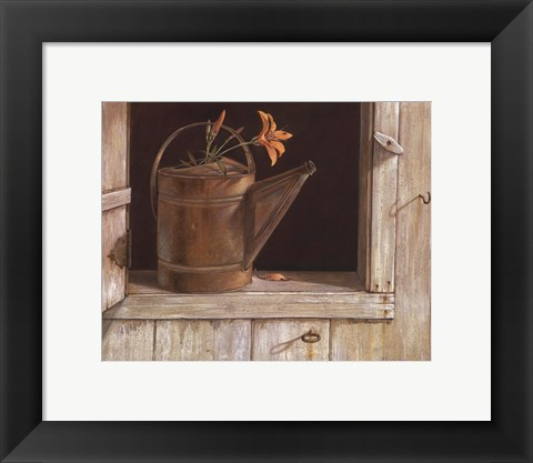 Framed Favorite Watering Can Print