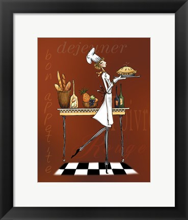 Framed Sassy Chef I Print