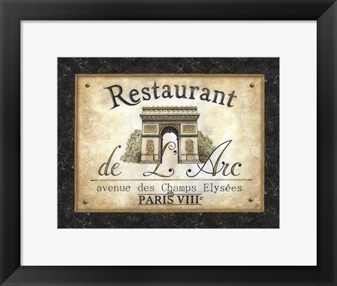 Framed Restaurant de l'Arc Print