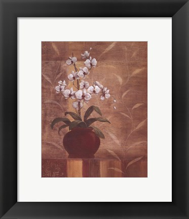 Framed Orchid Obsession I Print