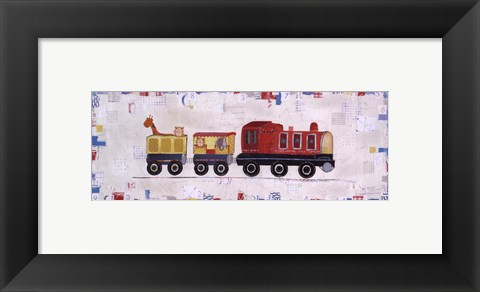 Framed Red Circus Train Print