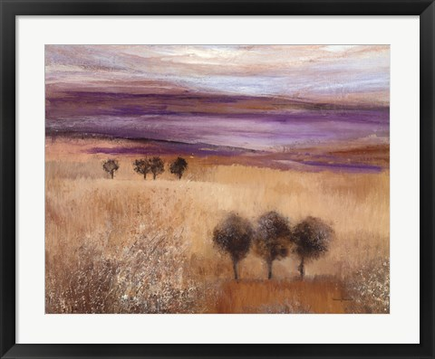Framed Heather Landscape II Print