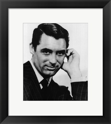 Framed Cary Grant Black and White Print