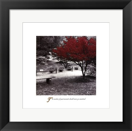 Framed Inspirational - Quiet Moments Print