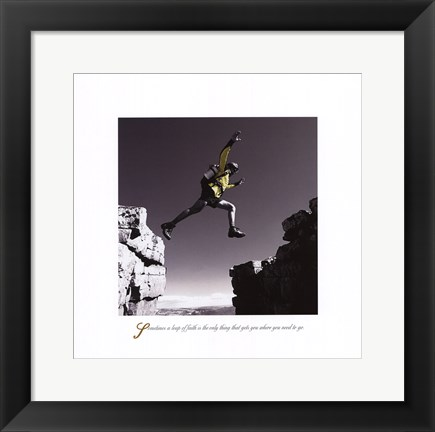 Framed Inspirational - Leap Print