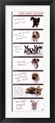 Framed Dog Agenda Print