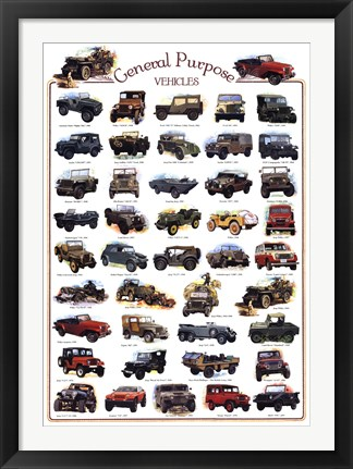 Framed General Purpose Vehicles Print