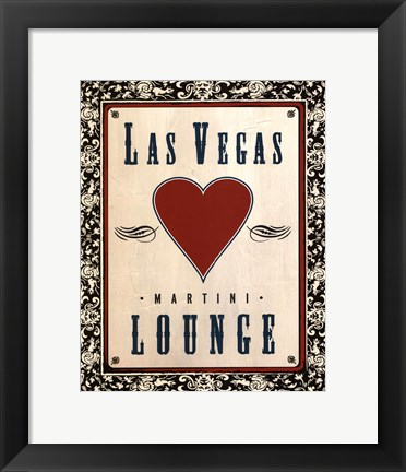 Framed Martini Lounge Print