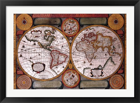 Framed Map - Terre Universelle Print