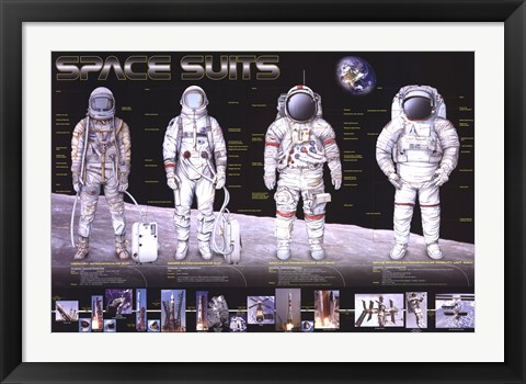 Framed Space Suits Print