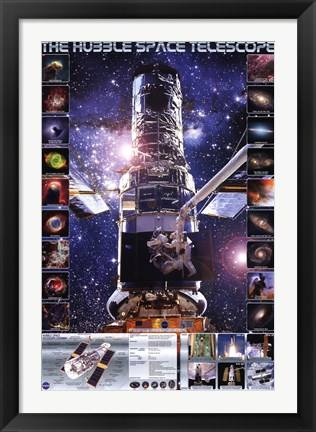 Framed Hubble Telescope Print