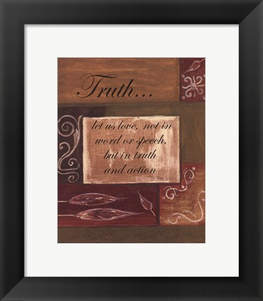 Framed Words to Live By, Dcortruth Print