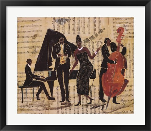 Framed Jam Session II Print