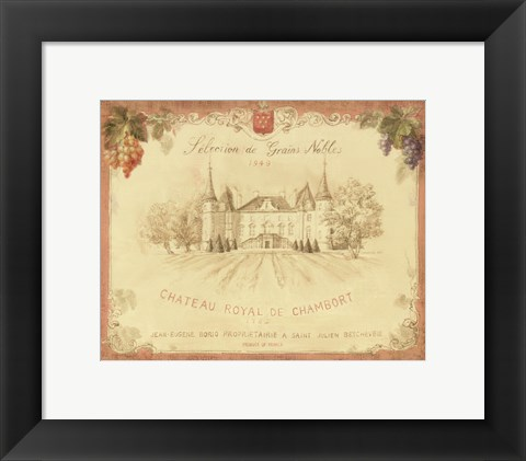 Framed Chateau Royal de Chambort Print