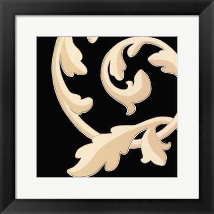 Framed Damask II Print
