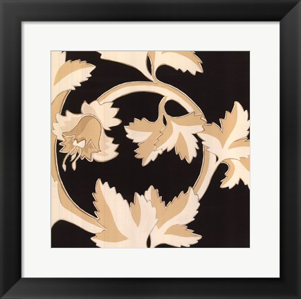 Framed Damask IV Print