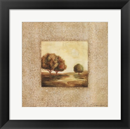 Framed Golden Morning I Print