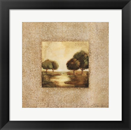 Framed Golden Morning II Print