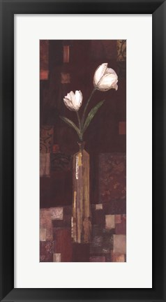 Framed Romantic Tulip Print