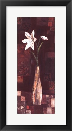 Framed Romantic Lily Print