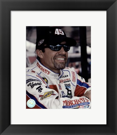 Framed Kyle Petty portrait in Merchants uniform, 2006 shot Print
