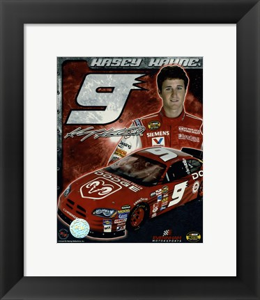 Framed 2006 Kasey Kahne collage- car, number, driver and signature Print