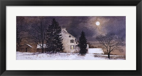 Framed Cold Night Print