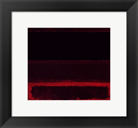 Framed Four Darks in Red, 1958 Print