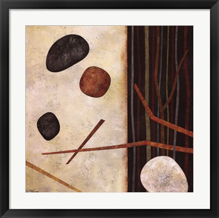 Framed Sticks and Stones II Print