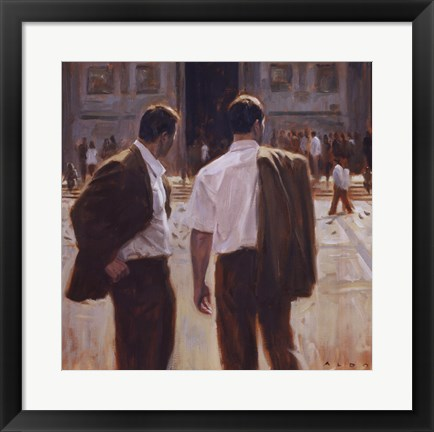 Framed Two Gentlemen in Milan Print