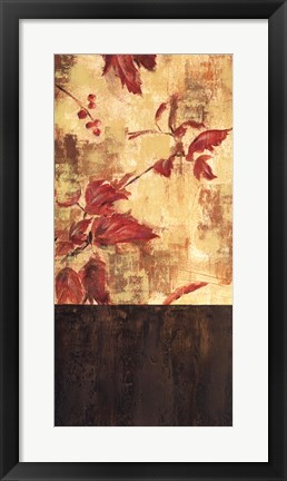 Framed Autumn Leaves II Print