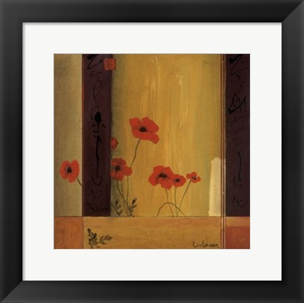 Framed Poppy Tile II Print