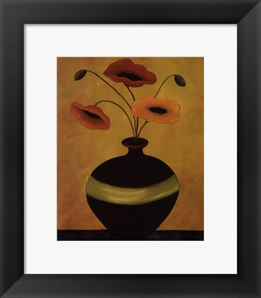 Framed Poppy Flirtation II Print