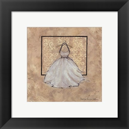 Framed Take Me Dancing IV (white) Print
