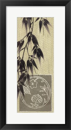 Framed Bamboo At Dawn Print