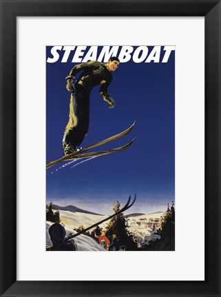 Framed Steamboat Ski Poster Print