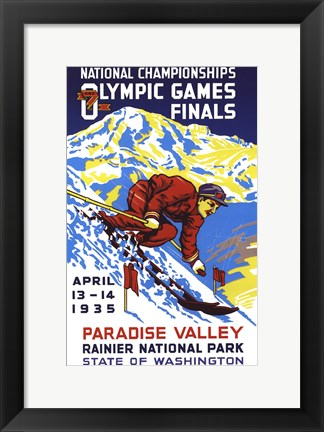 Framed Olympic Games Print