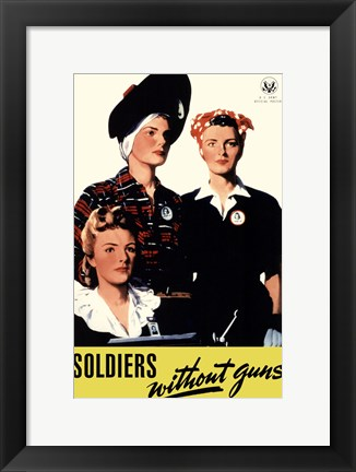 Framed Soldiers Without Guns Print