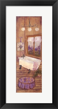 Framed Bath in Lavender II Print