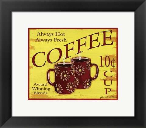 Framed Coffee 10 Print