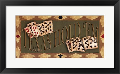 Framed Texas Hold'em Print