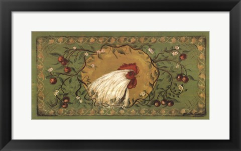 Framed Country Rooster Print
