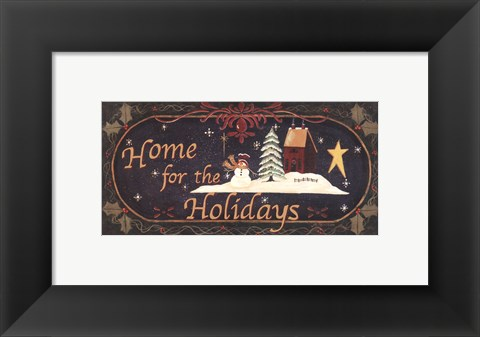 Framed Home for Holidays Print