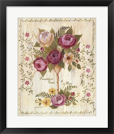 Framed Romantiques Roses Print
