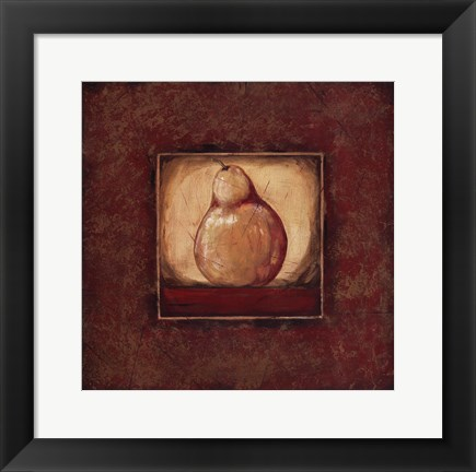 Framed Pear I Print