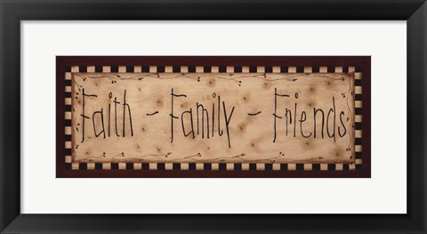 Framed Faith Family Friends Print