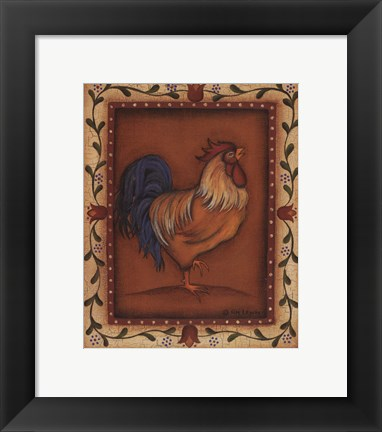 Framed Gold Rooster Print
