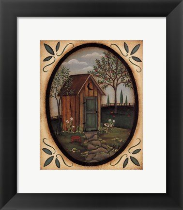 Framed His Outhouse Print