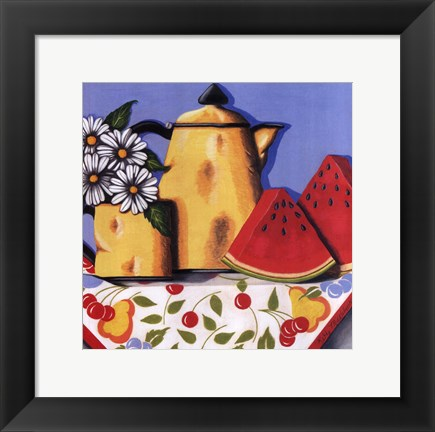 Framed Coffee Pot Print