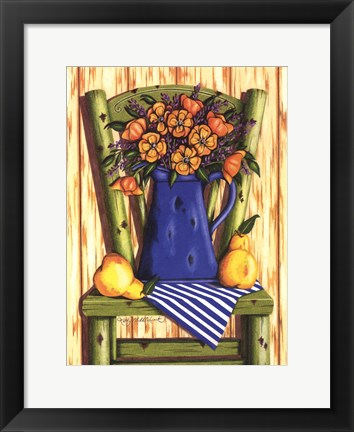 Framed Old Wooden Chair Print